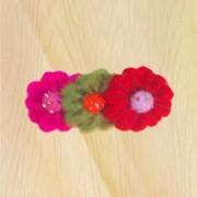 Three flower brooch