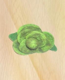 Green Rose brooch
