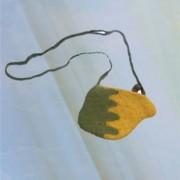 Mango purse with beads and dori