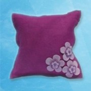 3 flower cushion - Pink
