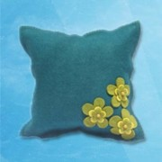 3 flower cushion - Green