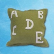Alphabet cushion - Green