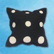 Polka Dot Cushion - Black
