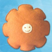 Smily Face Cushion - Orange