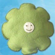 Smily Face Cushion - Green