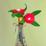 Rose with Pink Bud