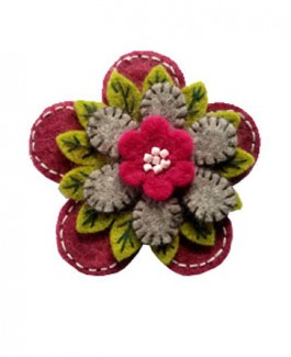Embroidery Floral Brooch