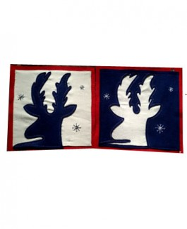 Reindeer Two set Cushion Cover