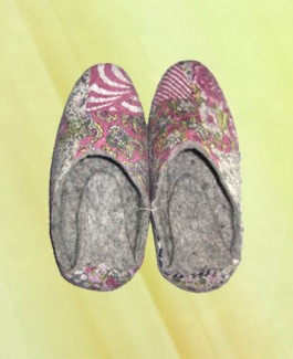 Folded Tail Slipper with fabric